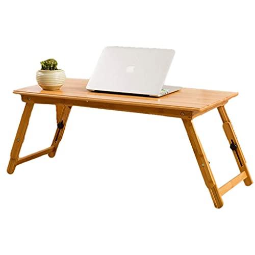 HGXC Mesa para portátil Simple Mesa pequeña elevable Mesa Plegable Escritorio Simple Mesa de té de bambú