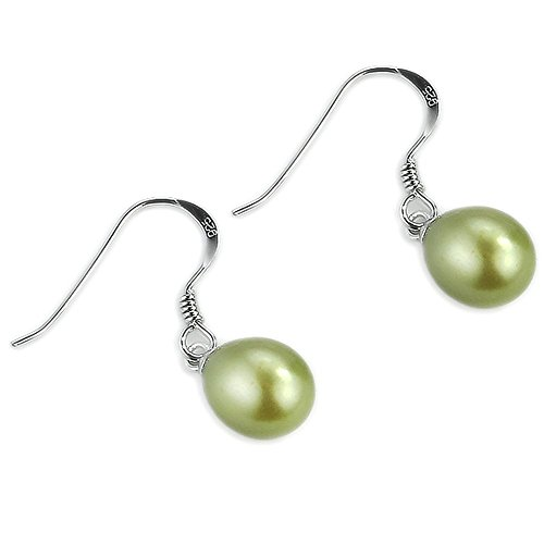 JOJO Argent Ovale Perles de culture d'eau douce Perle