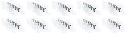 PAVO Pack de 50 Badges 57 x 91 mm en PVC avec Epingle/Clip Transparent