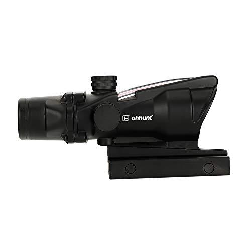 ohhunt 4x32 Horseshoe Reticle Real Fiber Optics Red or Green Illuminated Rifle Scopes(Red Horseshoe...