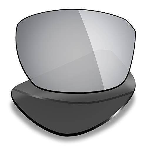 Mryok Lentes de repuesto para Oakley Split Shot - Opciones, plateado (polarizado - titanio plata), Talla única