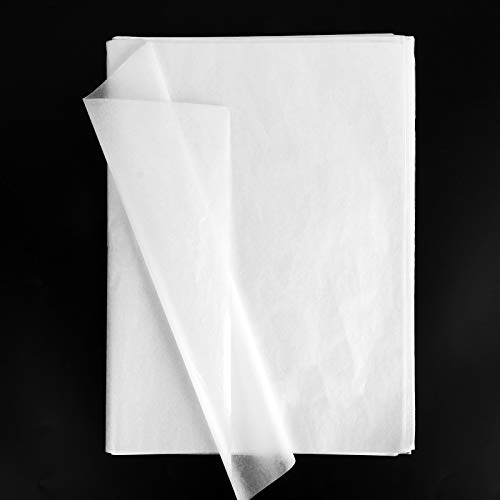 100 Hojas Papel de Seda Envolver Regalo Flores 50x35cm Decoración Manualidades para San Valentín Bodas Fiestas Cumpleaños Navidad Blanco