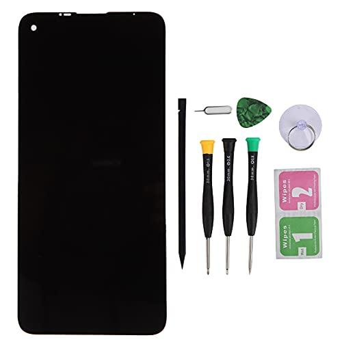 Reemplazo de Pantalla, Pantalla de teléfono Pantalla LCD Pantalla táctil de reemplazo de Vidrio con Herramienta de reparación para Moto G8 XT2045‑1