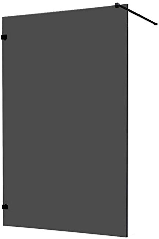 AWT Duschwand LW1400-B schwarz 140x210