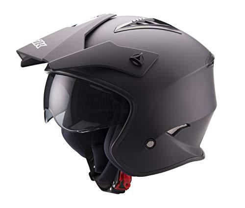 casco moto trial Unik Ct-07 Casco Trial Con Visierino Sun