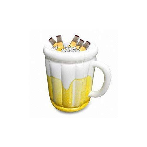 XJJZS PVC Inflable Cubo de Hielo Cerveza jarras de Cerveza al Aire Libre En Chiller for Congelador Bebidas como Vino de plástico Cubo y Cerveza Enfriador