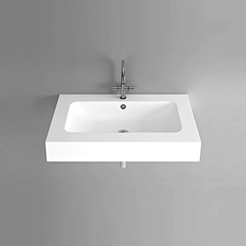 Bette One wastafel voor wandmontage zonder kraangat, A133 900 x 530 mm, Kleur: Wit met BetteGlaze Plus - A133-000PW