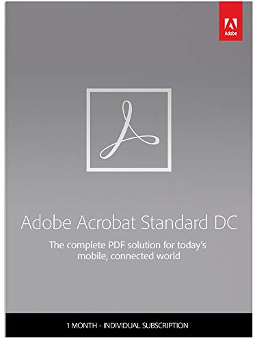 Adobe Acrobat Standard DC | Create, edit and sign PDF documents | 1-month Subscription with auto-renewal, PC