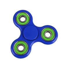 Christmas Concepts® - Exklusiv Blue & Green Fidget Hand Spinner - Stress Reducer, Stress Relief, Autismus - Spin Time 1-3 Minuten
