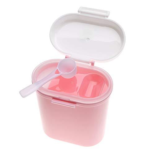 TOPINCN Caja Leche En Polvo para Bebé Dispensador Fórmula Portátil Plástico Niños Aperitivos Frutas Dulces Contenedor Almacenamiento Gran Capacidad Rosa Large Size