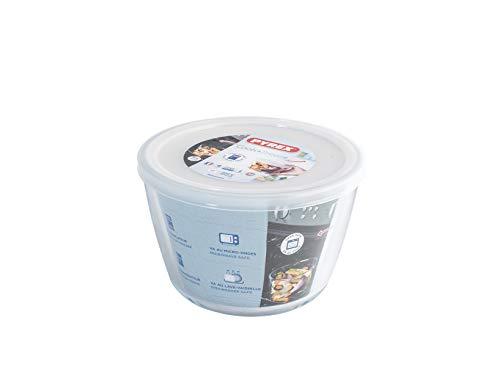 Pyrex Cook&Freeze Recipiente Redondo con Tapa, 16cm-1,6L, Vidrio borosilicato Extra Resistente, Apto para Horno