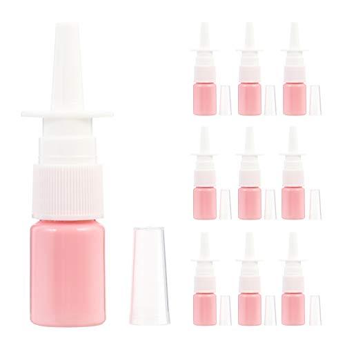 EXCEART 50 Stuks 5Ml Reizen Flessen Draagbare Lege Flessen Neusspray Lege Flessen Fijne Nevel Sproeiers Verstuivers Voor Colloïdale Zoutoplossing Toepassingen Make- Up Cosmetica (Gemengde