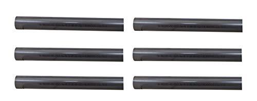 well2wellness® PVC Rohr 50mm PVC Druckrohr 50mm 10 bar - 6 x 1 Meter