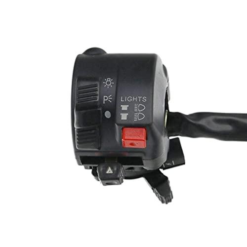 Maquer Interruptor de Manillar de Motocicleta de 7/8, Motor eléctrico, Arranque, bocina, Faro antiniebla, interruptores de botón (Color : Default)