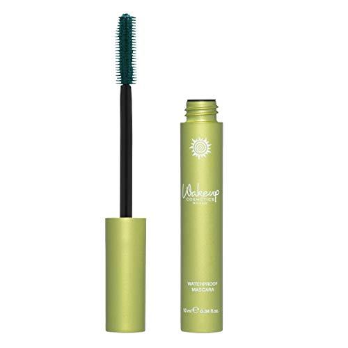 Wakeup Cosmetics Milano Mascara Waterproof, Arricchito con Vitamina e E Olio di Jojoba, Verde