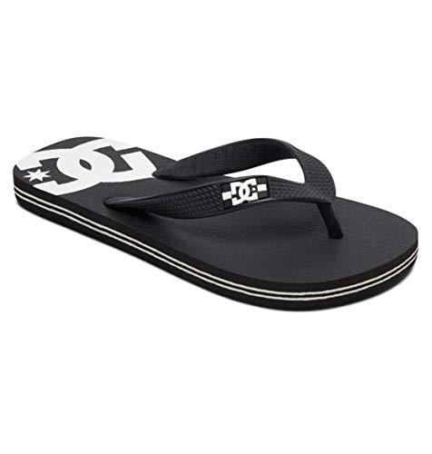 DC Shoes Baby Spray-Sandalen für Jungen Flip-Flop, Black White, 20.5 EU