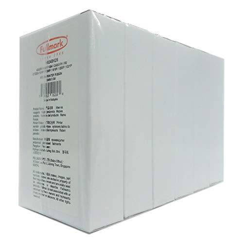 Fullmark N024BK2S - Nastro di ricambio in nylon compatibile per Adler 1414P/1204, CASIO R1/R2, Citizen 121FP/1000P/1010P/1220P/1221P, confezione da 6