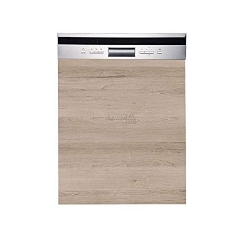 Cuisineandcie - Façade pour lave-vaisselle semi-intégrable - L 60 cm - décor chêne naturel