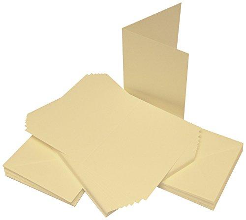Crafts UK 50Karten und Umschläge, 11,4 x 16,2 cm, elfenbeinfarben