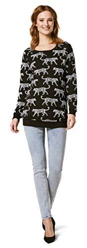 Supermom Damen Sweater ls Graphic Umstandspullover, Mehrfarbig (Black P090), 38 (Herstellergröße: M)