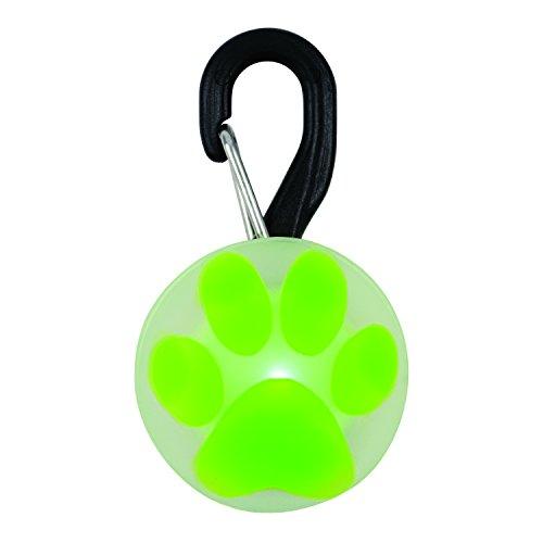 Nite Ize PetLit LED Collar Light, Dog Or Cat Collar Light, Replaceable Batteries, White LED Green Paw Design