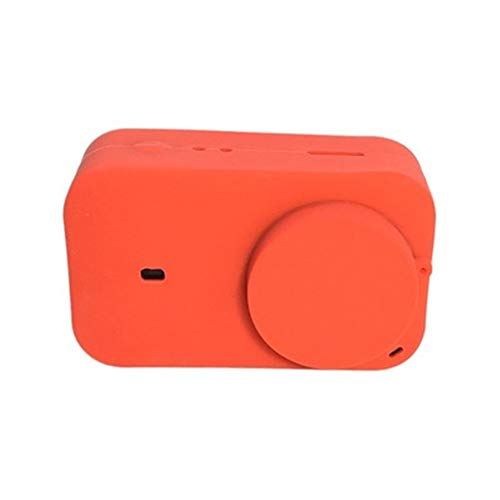 XIAOMINDIAN Anti-Scratch Silicon Gel Protective Case Cover with Lens Cover for Xiaomi Mijia Mini Action Camera 4K Sport Video Cam Accessory Camera Mount (Colour : Red)
