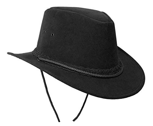 Australia Style Summer Hat Parkes | Hat with Narrow Brim | Sun Protection in Black