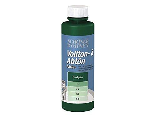 Voll- und Abtönfarbe verschiedene Farben 250ml,-Forstgrün-250 ml