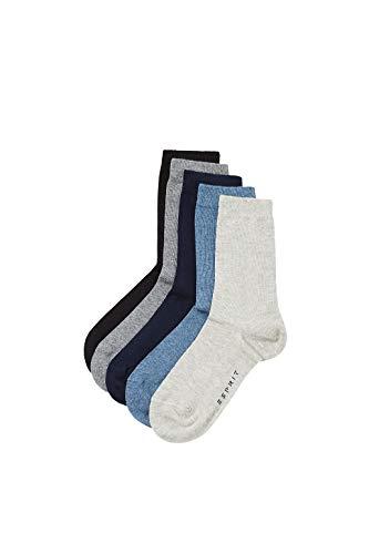 ESPRIT Unisex Kinder Solid Mix 5-Pack K SO Hausschuh-Socken, Mehrfarbig (Sortiment 70), 35-38 (5er Pack)