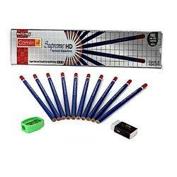 Camlin Kokuyo Supreme High-Density 10 Pencils with Eraser and Sharpener, Pack of 5