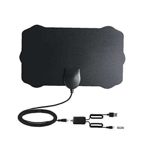 shentaotao Televisión de Alta definición de TV Digital Antena Interior amplificada Antenas TDT Arial 980 Millas de Gama Canales Amplificador de señal Amplificador Locales Negro