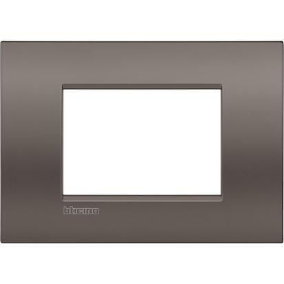 Bticino LNC4803CY Placca Livinglight Air 3 Moduli, Argilla