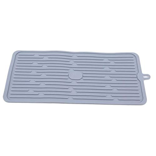 LZZR Tabelle Tischset Dish Trocknung Pad Anti-Rutsch-Trocknungsmatte Geschirr Zähler Glasschalen-Kissen-Auflage-Geschirr Tischmattenhalter (Color : Grey)