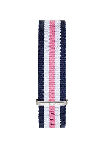 Daniel Wellington Classic Southampton, Blau-rosa-weiß/Silber Uhrenarmband, 18mm, NATO, für Damen und Herren