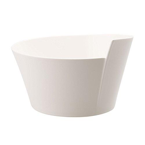 Villeroy & Boch - petite terrine NewWave, pour terrine/soufflé/soupe, ovale, porcelaine premium, compatible lave-vaisselle et micro-onde, blanc, 300 ml