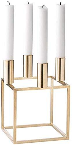 Candelabros de 4 brazos con marco de metal de geometría creativa y candelabro de diseño único nórdico moderno para centros de mesa decorativos de mesa de centro y sala de estar o para decoración de ma