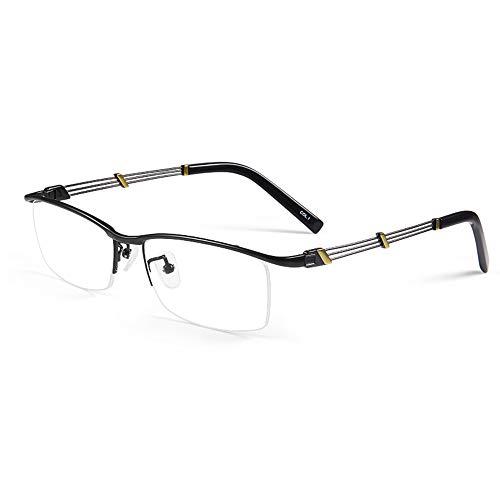 Gafas De Lectura Con Bloqueo De Luz Azul Antirradiación, Montura De Titanio Puro Ultraligero Para Hombre, Gafas Ópticas Para Presbicia Para Aliviar La Fatiga