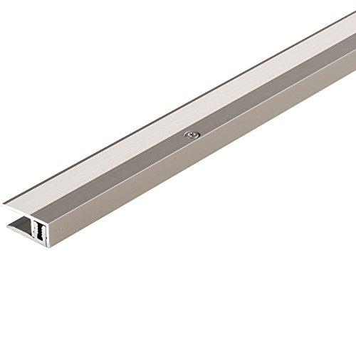 Parador Boden-Profile Abschlussprofil Treppenprofil Aluminium Edelstahl für Parkett Bodenbeläge 8-18 mm