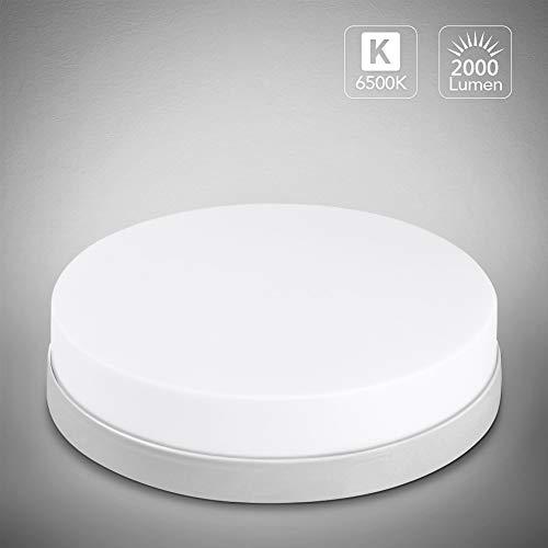 24W LED Deckenleuchte 2000lm Ø18cm Runde Deckenlampe 4000K Neutralweiß Panel Light Badezimmerleuchte Innenbeleuchtung für Schlafzimmer Küche Flur Büro Esszimmer AC85-265V [Energieklasse A++]