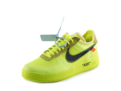 Nike Air Force 1 Low x Off White - Volt/Black-Volt-Cone Trainer Size 7 UK