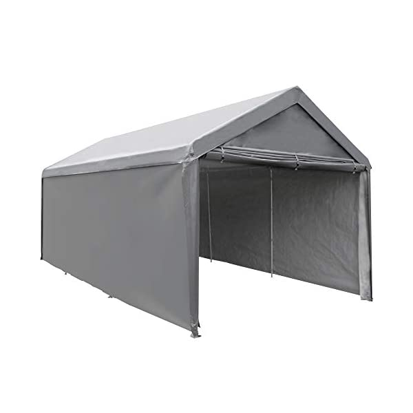Abba Patio Heavy Duty Carport with Removable Sidewalls Portable Garage Car Canopy...
