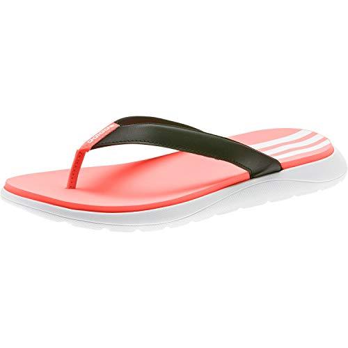adidas Damen Comfort Flipflop, CBLACK/FTWWHT/SIGCOR, 41 1/3 EU