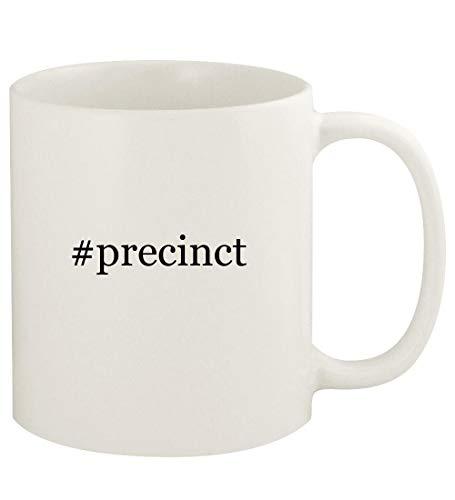#precinct - 11oz Hashtag Ceramic White Coffee Mug Cup, White