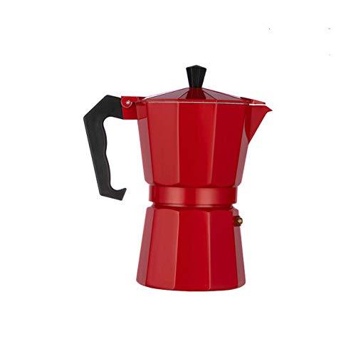 Caffettiera pentola in alluminio caffè espresso caffettiera caffettiera bollitore caffè caffettiera espresso caffettiera piano cottura caffettiera rosso 150 ml