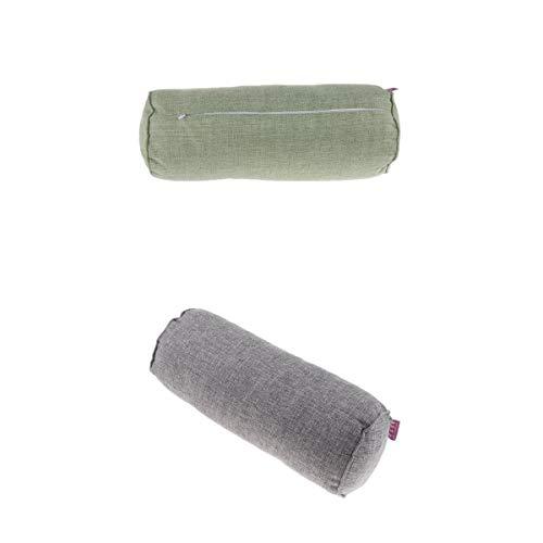 joyMerit 2 X Cuello Cervical Cilindro Almohada Cilindro Cojín Reforzar Soporte para Dormir - Transpirable Y Cómodo - Soporta Efectivamente, Alivia El D