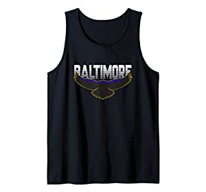 Baltimore Football Fan - Raven Nation Pride Game Day Gift Tank Top