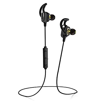 Phaiser BHS-780 Bluetooth Headphones with Dual Graphene Driver Bluetooth Sport Headset with Mic - Wireless Earbuds for Running - Sweatproof Blackout