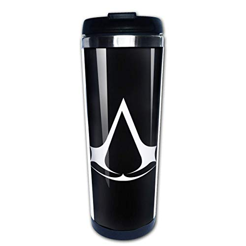 Wasserflasche Cup Travel Mug Kaffeebecher, Coffee Cups Assassin Creed Video Game Coffee Cup Stainless Steel Coffee Mugs Water Drink Bottle for Adults Kids