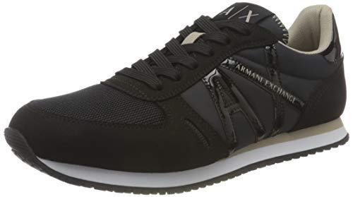 Armani Exchange Rio Sneaker, Zapatillas Mujer, Negro, 40 EU