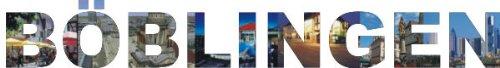 INDIGOS UG - Wandtattoo Wandsticker Wandaufkleber - Aufkleber farbige Wandschrift Städtename Städtename Böblingen mit Sehenswürdigkeiten 96 x 13 cm Länge